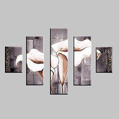【今だけ☆送料無料】 アートパネル  静物画5枚で1セット グレイ 花びら 白い お花【納期】お取り寄せ2~3週間前後で発送予定