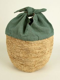 Lovely basket! If it's lined, would make a nice knitting bag.