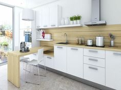 Image result for modern white kitchen cabinets