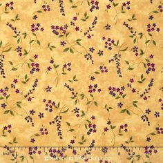 Lady Slipper Lodge - Wildflowers Buttercream Yardage - Holly Taylor - Moda Fabrics