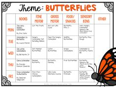 Tons of fun and creative butterfly themed ideas and activities for tot school, preschool, or the kindergarten classroom.
