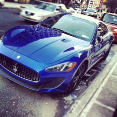 Maserati GranTurismo MC Stradale spotted on the streets of NYC - Cool Sports Cars, Sport Cars, Cool Cars, Maserati Gt, Maserati Granturismo, Hot Rides, Love Car, Expensive Cars, Car Manufacturers