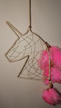 unicorn dream catcher unicorn free by LandonsDreamCatchers on Etsy, $30.00