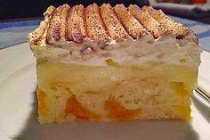 Fanta – Schmand – Kuchen mit Pudding und Mandarinchen Fanta – sour cream cake with pudding and mandarin (recipe with picture) Pudding Desserts, Pudding Cake, Food Cakes, Soap Recipes, Cake Recipes, Mandarine Recipes, Dessert Oreo, Sour Cream Cake, Healthy Cake