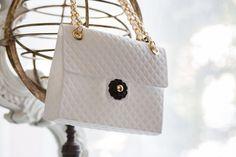Baci Milano White Pochette Handbag