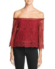 Lucy Paris Off-The-Shoulder Lace Top - 100% Bloomingdale's Exclusive