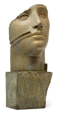 Igor Mitoraj (b. 1944) Untitled (Mask) incised with artist's signature and numbered 'MITORAJ 4/8' (lower left) bronze 24 x 11½ x 10¼in. (61 x 29 x 26cm.) This work is number four from an edition of eight