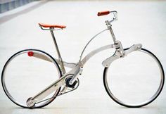 Hubless Sada Bike Can Be Folded to the Size of an Umbrella  Sada Bycicle, foldable bicycle design, foldable bikes, space-saving bicycles, bicycle design, portable bicycle, transformable bicycle, green...