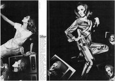 Portrait of Françoise Dorléac by Helmut Newton for Vogue UK, 1967