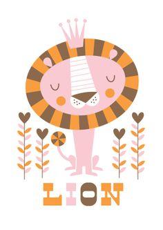 Girls set of 3 jungle nursery prints by BubbleGumYears on Etsy