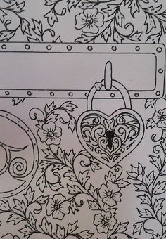 Printable Coloring Card Key To My Heart