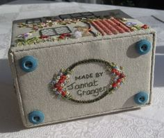Assembling the Home Sweet Home etui workbox - designed by Carolyn Pearce. See Janet Granger's blog for details.