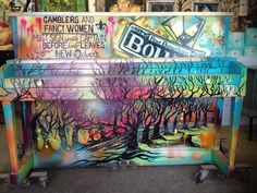 painted piano - Google Search
