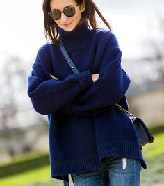 I love a big turtleneck! @Who What Wear - Day 4  Image viaTheStyleograph