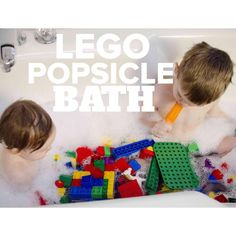 🛀🏻Lego Popsicle Bath🛀🏻 Mom Truth: I am throwing in the towel 😂 I'm sick AGAIN and let me tell you, the sick leave policy for Moms is terrrrible. We should form some sort of Mom Union over these working conditions 😉 I've got the crud for the second time in a month and I'm not happy about it 👎🏻 I so needed to sit this morning and rest, so I decided to throw a Hail Mary pass to get us to Kate's morning nap time 🌟 Enter the mother of all combination activities: the Lego Popsicle Bath…