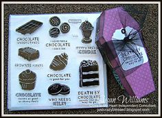 New CTMH Close to My Heart Chocolate Affair Stamp Set Pre Cut Coffin Kits | eBay