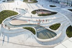 8 Magnificent Architecture and Urban-Space Designs from the iF Design Award global community | Yanko Design German Architecture, Innovative Architecture, Landscape Architecture Design, Design Set, Urban Design, Urban Living Room, Design Plaza, Urban Landscape, Landscape Stairs