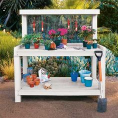 Perfect Mother's Day present!  An easy DIY potting bench. |  Photo: Thomas J. Story | thisoldhouse.com