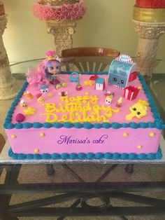 See 3 photos and 1 tip from 10 visitors to Marissa's Cake. Shopkins Birthday Cake, Shopkins Cake, Barbie Birthday, Birthday Cakes, Pastel Shopkins, 6th Birthday Parties, 11th Birthday, Birthday Ideas, Character Cakes