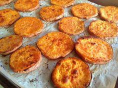 """Low carb buns quest Sweet Potato """"Buns"""" 1 large sweet potato 2 tbsp coconut oil 1/4 tsp cumin 1/4 tsp paprika dash of sea salt"""