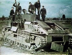 Abandoned Soviet T-28 during the '41 campaign. The medium tank's engine and transmission were not reliable.