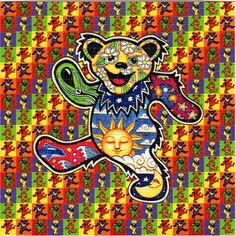 Dancing Bears BLOTTER ART perforated acid art paper by ZaneKesey
