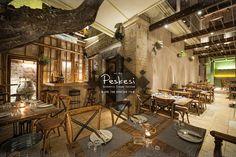 Peskesi restaurant by Tectus Design, Heraklion Greece hotels and restaurants Restaurant Interior Design, Commercial Interior Design, Commercial Interiors, Heraklion, Visual Merchandising, Greece Hotels, Bar Design Awards, Café Bar, Design Blog