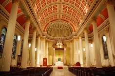 Cathedral Basilica of the Immaculate Conception, Mobile, Alabama.  Go to www.YourTravelVideos.com or just click on photo for home videos and much more on sites like this.