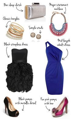 wedding guest outfit ideas / black tie formal
