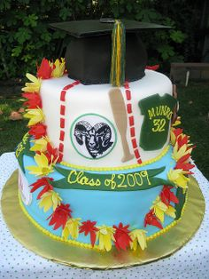 Temple City Graduation Cake with a Lei | Flickr - Photo Sharing!