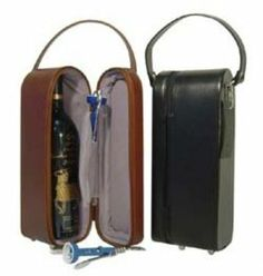 Leather Single Wine Tote Bag