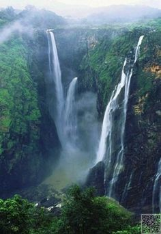 54. Jog #Falls, India - 55 #Awesome Waterfalls #around the World ... → #Travel #Highest