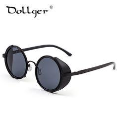 Steampunk Retro Coating Mens Vintage Round Sunglasses Men Women Brand  Esigner Gafas Oculos De Sol Feminino 4dbe731ea6