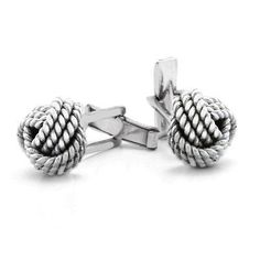 Bling Men Sterling Silver Cable Twist Love Knot Hinged Back Cufflinks Bling Jewelry, Wedding Jewelry, Jewelry Gifts, Jewelry Necklaces, Diamond Earrings For Women, Rope Braid, 925 Silver, Sterling Silver, Braids With Weave
