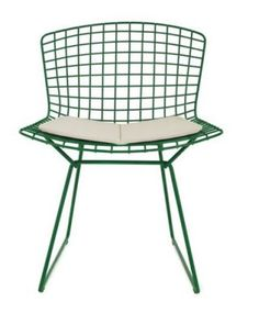 bertoia in green. Two of my favorite things. The chair and the color. Although, I would for sure have to have the chair in chrome.