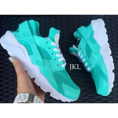 Tiffany Nike Air Huarache Customs White Sole Huarache Unisex Nike... ($185) ❤ liked on Polyvore featuring shoes, athletic shoes, grey, sneakers & athletic shoes, unisex adult shoes, grey shoes, gray shoes, waterproof shoes, blue leather shoes and water proof shoes