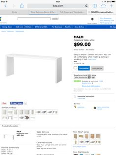Desk + End bed table Ikea 99$