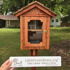 It's official! My new little free library built by my neighbor is ready! Check it out in Hales Corners, WI #littlefreelibrary #wisconsin