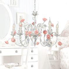 Rústico sala de flores e plantas da lâmpada E14 lâmpada da vela 4 cores de cerâmica rosa pingente de ferro luz lâmpada flores e luzes-inPendant Luzes ...