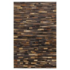 Leather tilework for your floor. Anderson Leather Rug in Chocolate $380