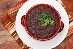 Slow-Cooker Refried Beans I One Lovely Life