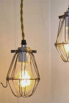 Industrial Cage Shade - Gold