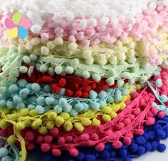 15mm Pompon Ball Trims Ribbon DIY Sewing Accessory Lace 2y/lot D17011502-in Lace from Home & Garden on Aliexpress.com | Alibaba Group
