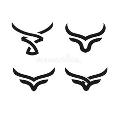 Find Creative Simple Bulls Horn Logo Vector stock images in HD and millions of other royalty-free stock photos, illustrations and vectors in the Shutterstock collection. Thousands of new, high-quality pictures added every day. Taurus Logo, Taurus Symbol Tattoo, Taurus Bull Tattoos, Taurus Symbols, Ox Tattoo, Head Tattoos, Tatoos, Toro Vector, Toros Tattoo