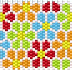 Bead-It-Forward bead-quilt project - Bead Magazine …Bead-It-Forward flower patterns - Facet Jewelry MakingThis post was discovered by AyFacet Jewelry Making is your destination for jewelry making from start to finishdidn't see pattern on link Peyote Beading Patterns, Bead Crochet Patterns, Peyote Stitch Patterns, Seed Bead Patterns, Loom Beading, Bracelet Patterns, Weaving Patterns, Flower Patterns, Motifs Perler
