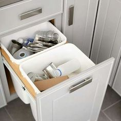 Change your cabinet into  a trash  keeper.