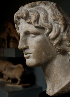 Alexander the Great, Hellenistic Greek, 2nd-1st century BC. Said to be from Alexandria, Egypt, currently located at the British Museum, London.