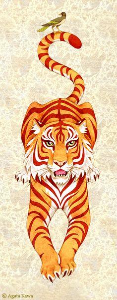 Felinos Tigre Vintage Agata Kawa Lanterne                                                                                                                                                                                 Más