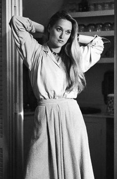 """Meryl Streep in Manhattan, 1979 - """"Not only is Meryl Streep my favorite actress (sorry if that's a cliché, but she's really as good as it gets), but her hair in Woody Allen's 1979 Manhattan achieves the perfect mix of just-washed clean, soft, and silky but also semi worn-in and very un-done in all the right ways. Her deep side part makes me want to change my very strict middle-part ways."""" —Elizabeth Taufield, Vogue.com Market Assistant"""