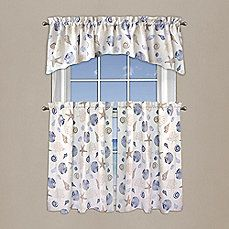 Blue Nautical Curtains Valance Tiers Set Cape Cod Coastal Decor Camper Purchases Pinterest